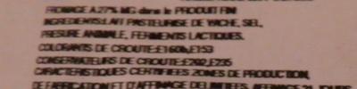 Tomme Noire des Pyrénées IGP (27 % MG) - Ingrediënten
