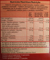 Couscous moyen - Información nutricional - fr