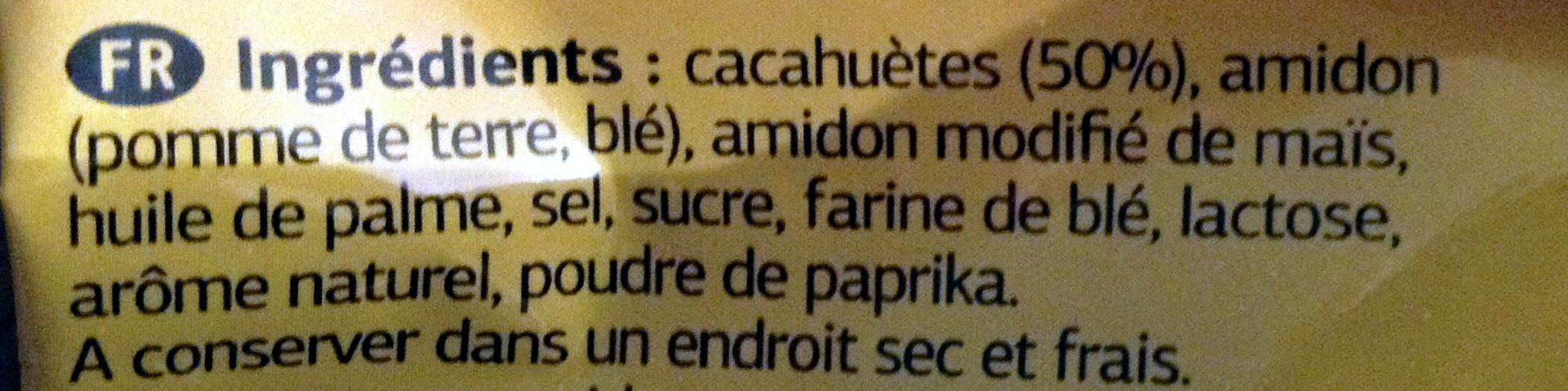 Cacahuètes enrobées goût paprika - Ingrédients - fr