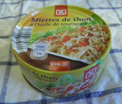 Miettes de thon à l'huile de tournesol - Dia - Produit