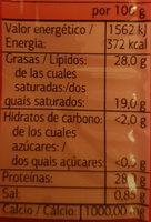 Emmentaler Im Stück 250 gr. - Voedingswaarden