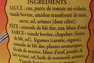 Le Cannelloni à la Napolitaine (Pur Bœuf) - Ingredients - fr