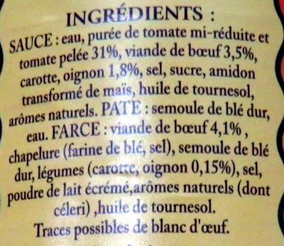 Le Ravioli à l'Italienne (Pur Bœuf) - Ingrédients - fr