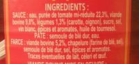 Le Ravioli à la Bolognaise (Riche en bœuf) - Ingredients - fr