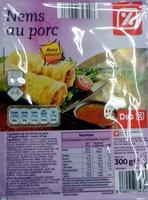 Nems au porc, Avec sauce (x 4) - Produit - fr