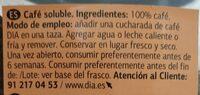 Café soluble - Voedingswaarden - es
