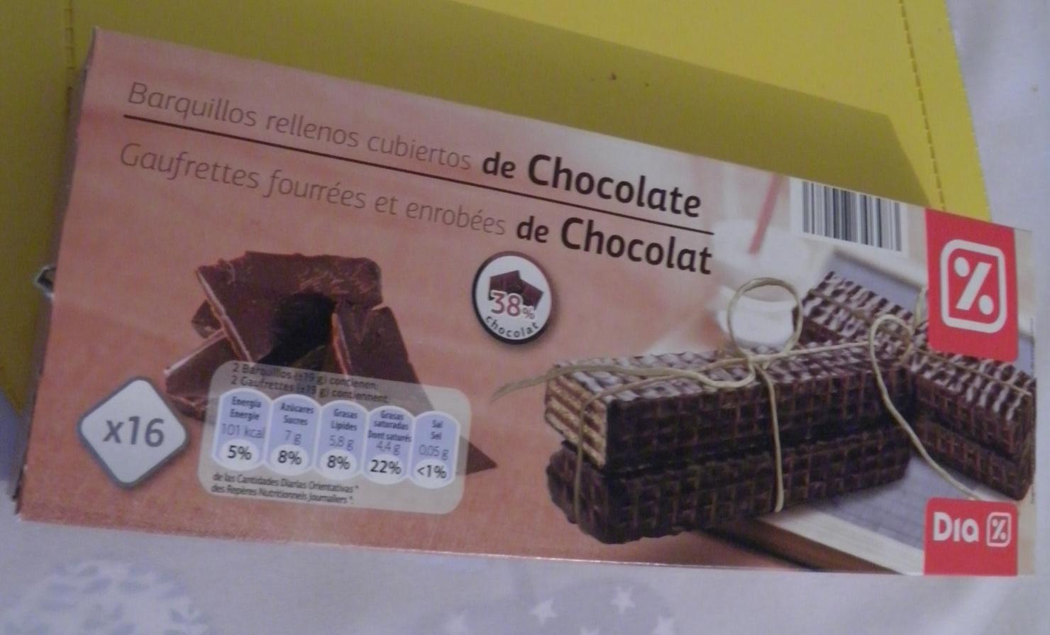 Gaufrettes fourrées et enrobées de chocolat - Produit