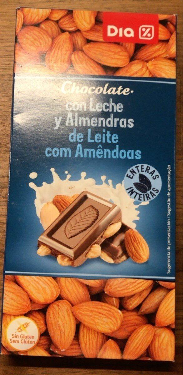 Chocolat au lait aux amandes entières - Prodotto - fr