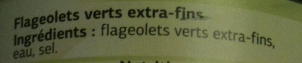 Flageolets Verts Extra-Fins - Ingrédients