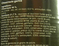Choucroute garnie au jarret de porc et au vin blanc - Ingrédients - fr