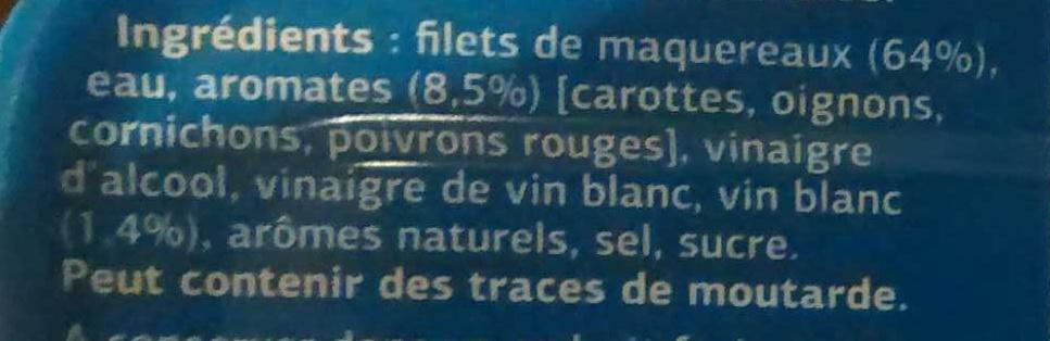 Filets de maquereaux (Marinés au vin blanc et aux aromates) - Ingredients - fr