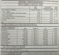 Vital Fibre Sticks - Información nutricional