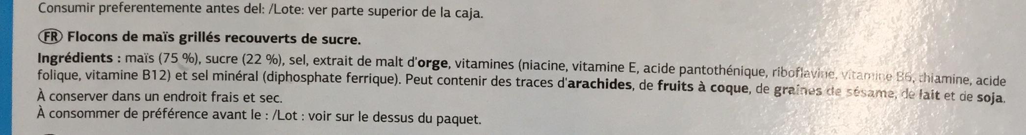 Tortera sugar - Ingredients - fr