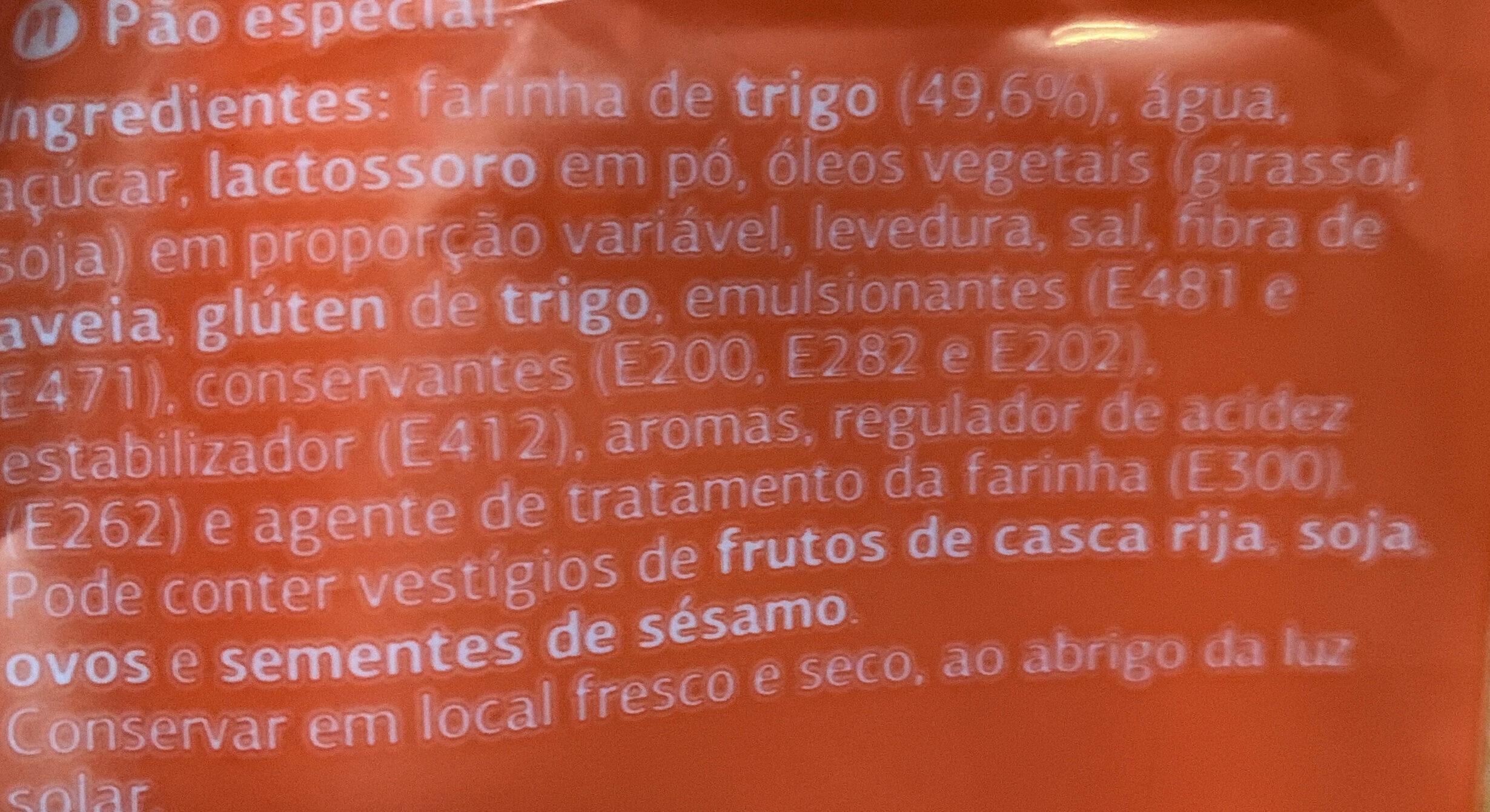 Pan Hot Dog - Ingredientes