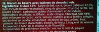 Petit beurre au chocolat noir - Ingredients - fr