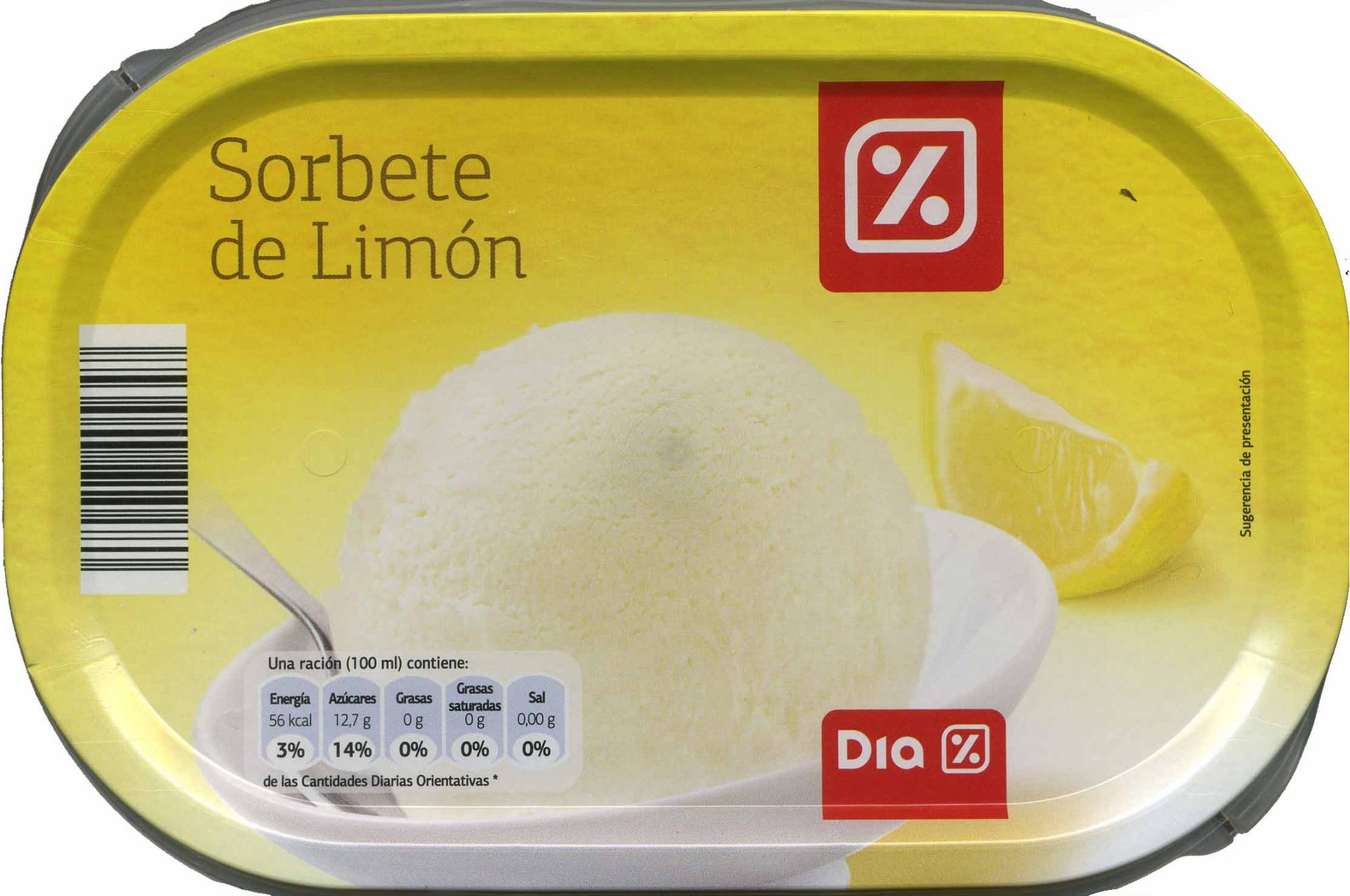 Sorbete limón - Producto