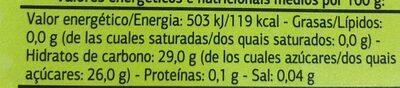 Sorbete limón - Información nutricional - es