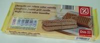 Waffer recheio sabor baunilha - Producte