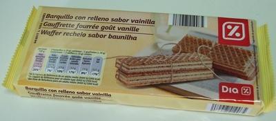 Waffer recheio sabor baunilha - Producto