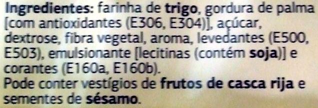 Waffer recheio sabor baunilha - Ingrédients