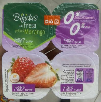 Bífidus con fresa 0% - Producto - es
