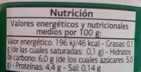 Bífidus con fresa 0% - Nutrition facts