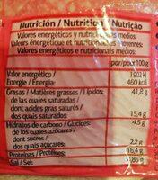 Salami extra - Informació nutricional