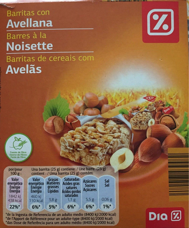 Barritas con Avellana - Product