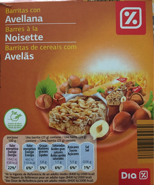 Barritas con Avellana - Produit