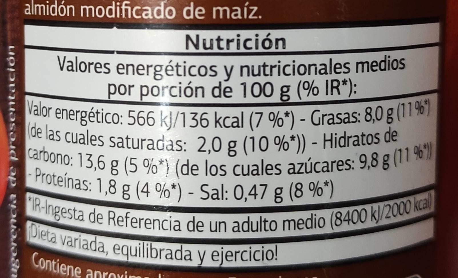 Tomate frito casero - Nutrition facts - es