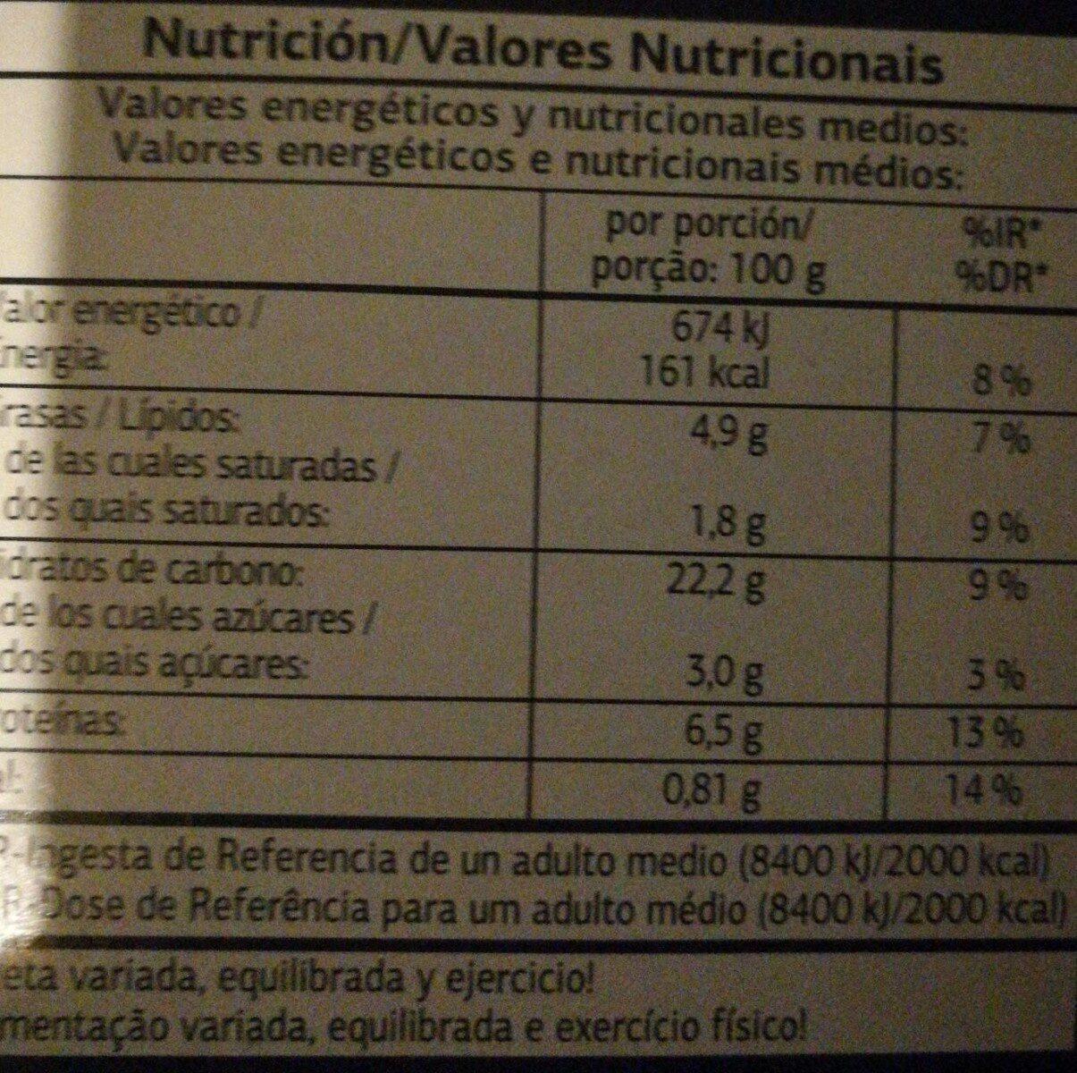 Di pietra campestre - Informations nutritionnelles