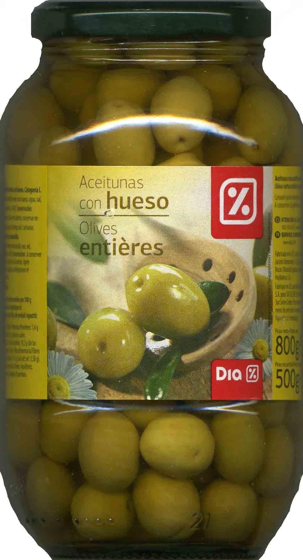 """Aceitunas verdes enteras """"Dia"""" Variedad Manzanilla - Producto - es"""