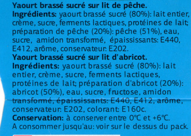 Yaourt à la Grecque sur Lit de Fruits (2 Abricots, 2 Pêches) - Ingrédients - fr