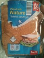 Pain de mie nature spécial sandwich - Produit