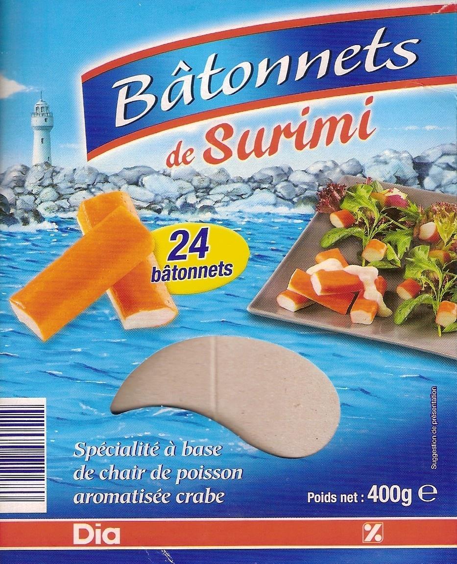 Bâtonnets de Surimi (24 bâtonnets) 400 g - Product - fr