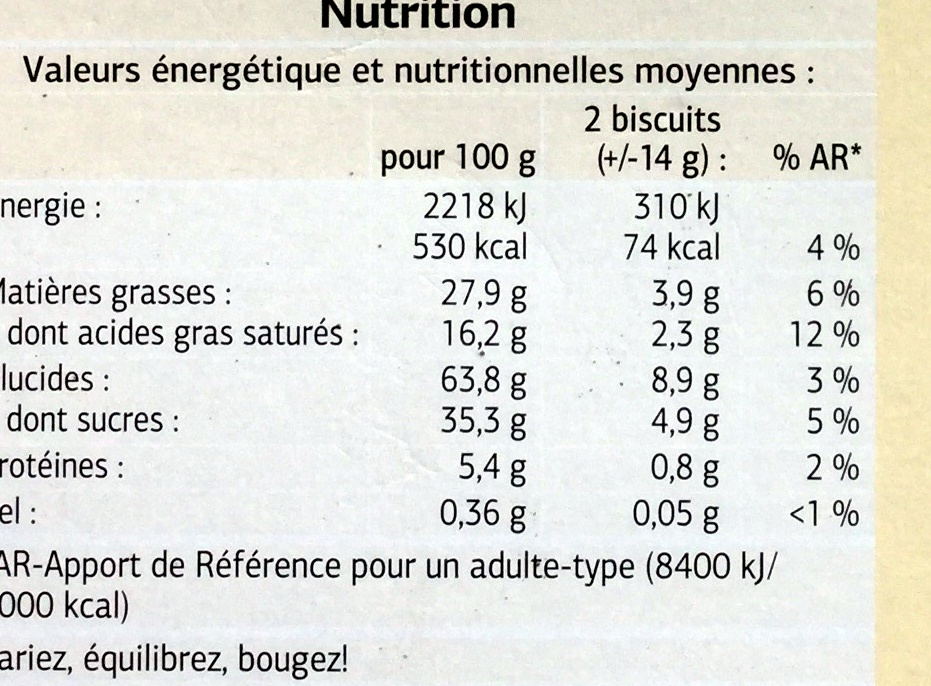 Cigarettes fines - Nutrition facts - fr