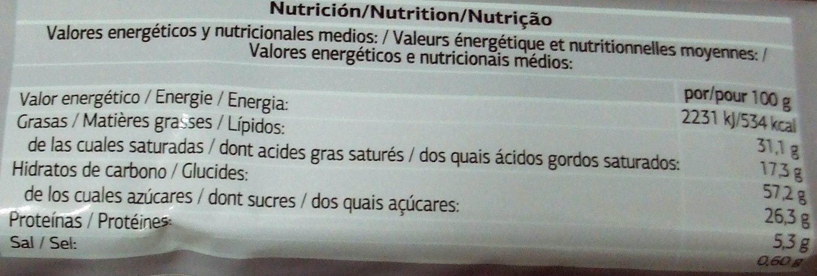 Sprits - chocolat au lait - Nutrition facts