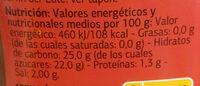 Ketchup - Informations nutritionnelles - es