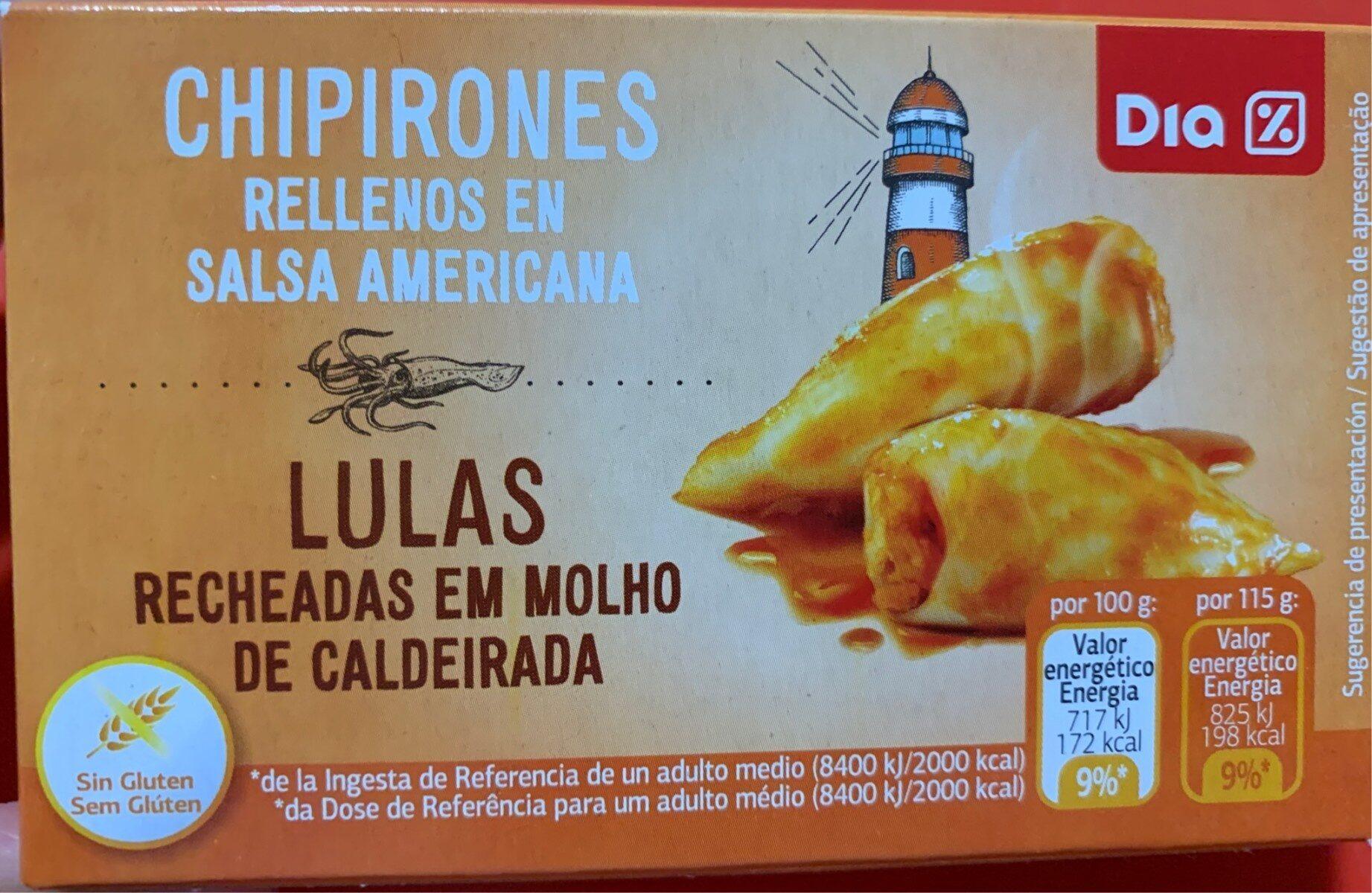 Chipirones rellenos en salsa americana - Produit - es