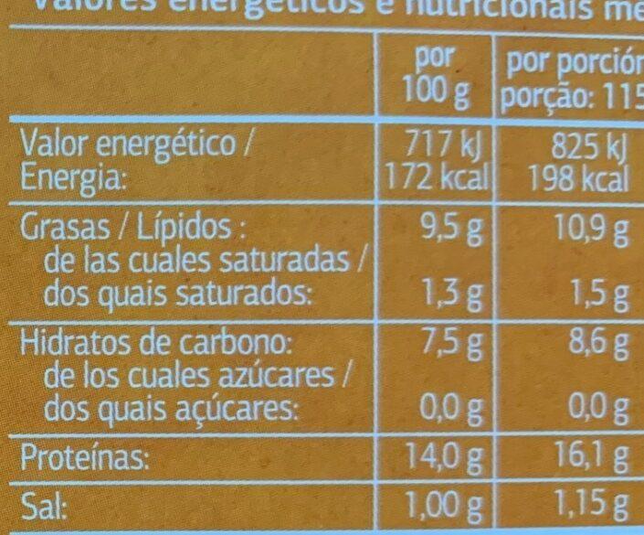Chipirones rellenos en salsa americana - Informations nutritionnelles - es