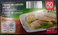 Filetes de caballa del Sur en aceite de oliva - Product