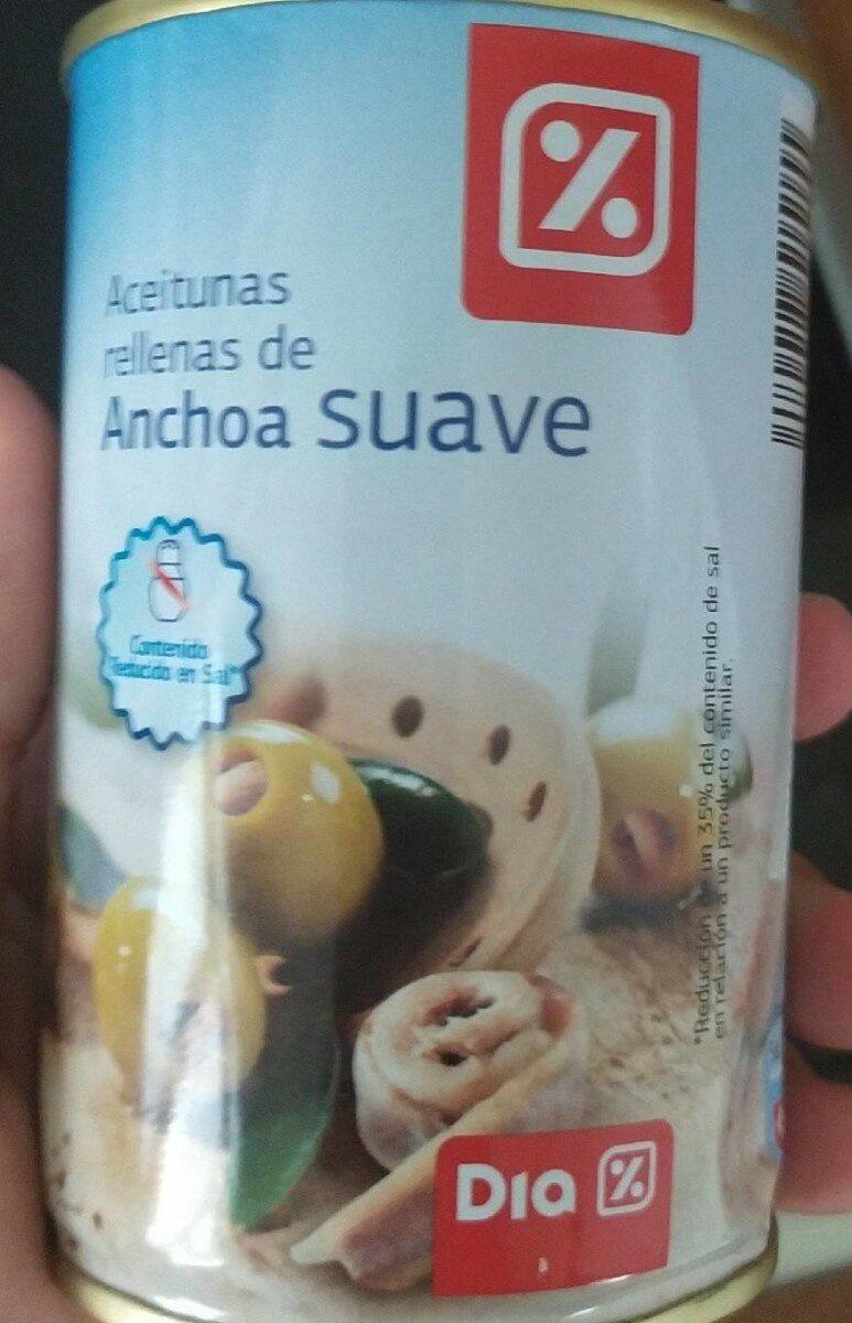 Aceitunas rellenas de anchoa suave - Producto