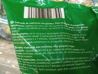 Salteado de espinacas y gambas - Ingrédients