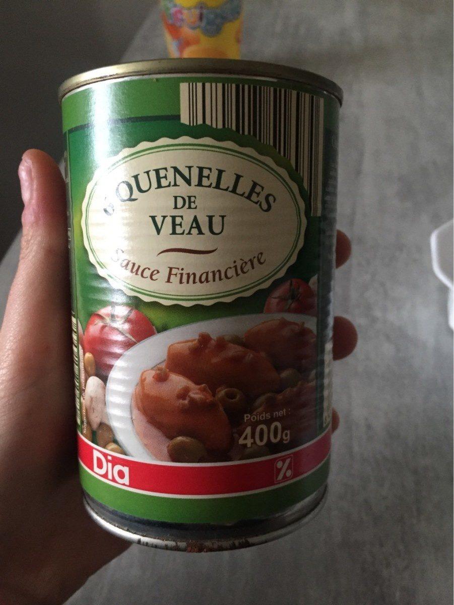 Quenelles de veau sauce financiere - Produit - fr