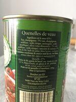Quenelles de veau sauce financiere - Ingrédients - fr