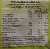 Cebolla cortada - Información nutricional