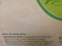 Queso tierno - Ingredients