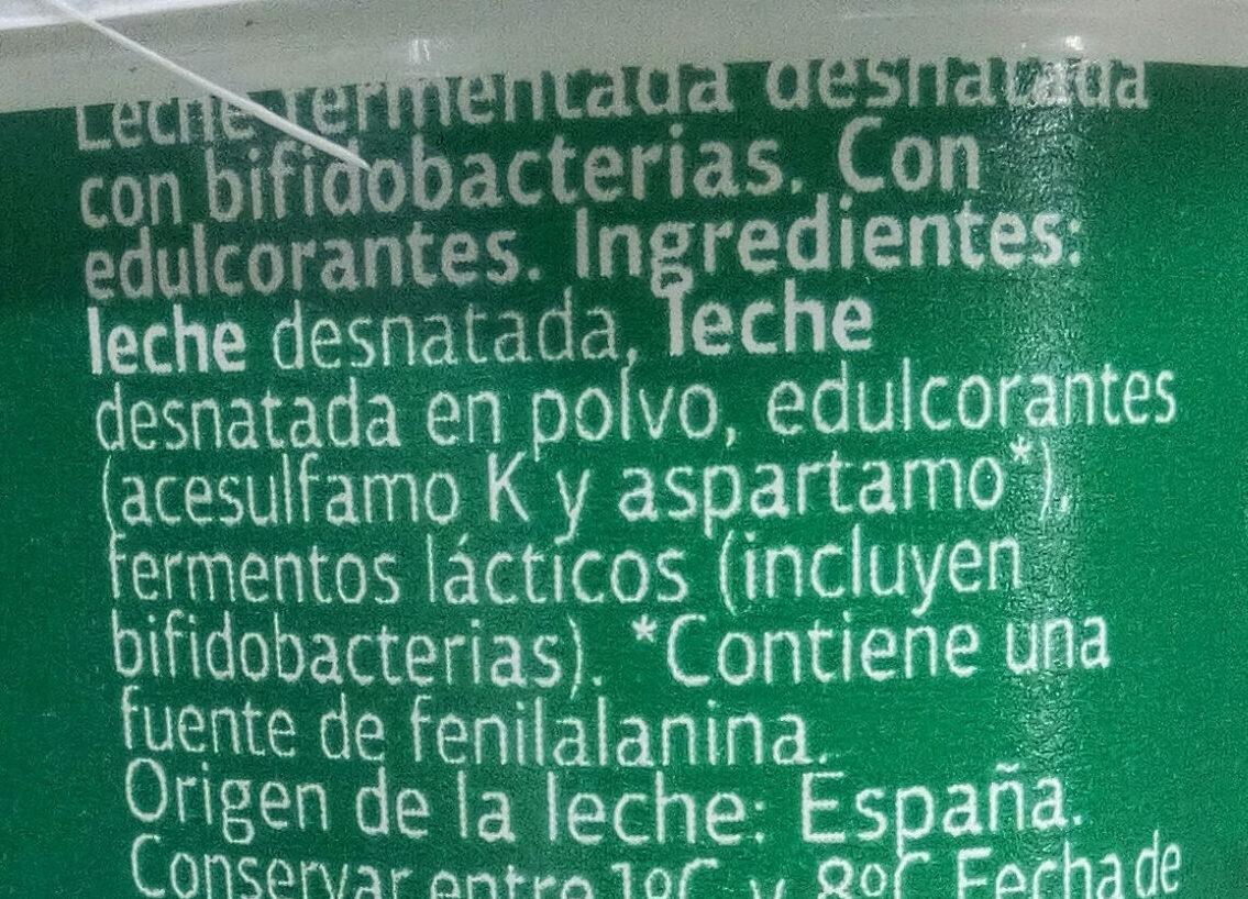 Bifidus edulcorado 0% - Ingredientes - es