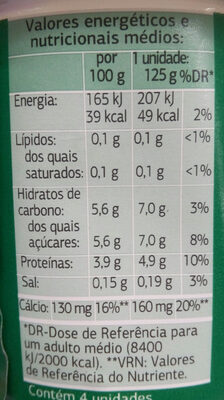 Bifidus edulcorado 0% - Nutrition facts