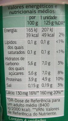 Bifidus edulcorado 0% - Información nutricional - es